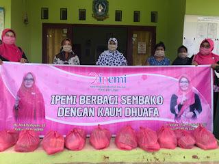 IPEMI Kabupaten Lingga Berbagi 50 Paket Sembako ke Kaum Duafa
