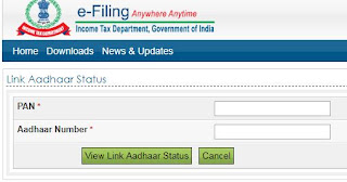 PAN Number and Aadhaar number linking status