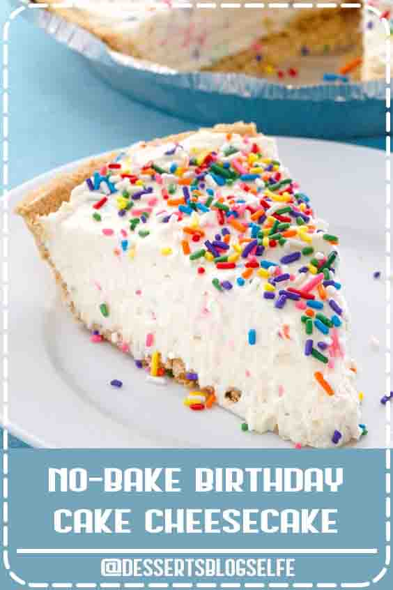 The rainbow of colors and flavors you love in birthday cake mix—plus lots of sprinkles. You'll fall in love with these no-bake birthday cake cheesecake. Get the recipe at Delish.com. #DessertsBlogSelfe #delish #easy #recipe #nobake #nobakerecipes #birthdaycake #birthdayrecipes #cheesecake #dessert #dessertrecipes #funfetti #BirthdayDesserts