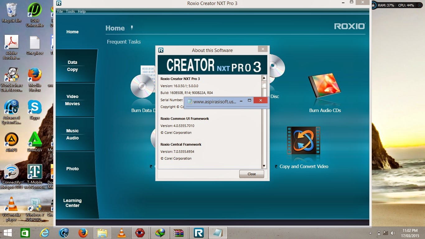 Roxio Creator 2012 Pro windows 10 serial number