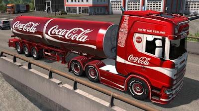 Skin Coca Cola Scania+Trailer