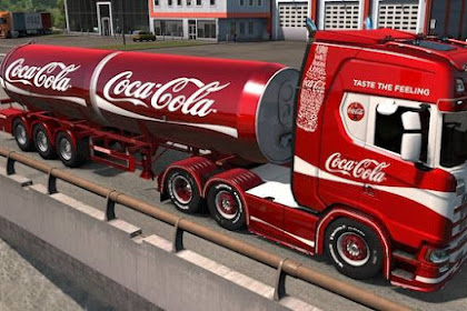 Skin Coca Cola Scania+Trailer