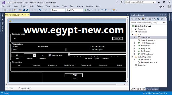 LOIC DDoS Attack  2021[Anonymous Edition] (SRC).rar