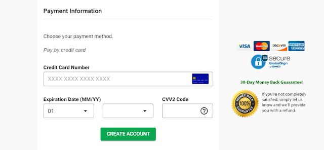 enter payment details on GreenGeeks