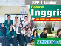 Download Contoh RPP Bahasa Inggris SMP Terbaru 1 Lembar.doc