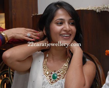 Anushka Shetty Showcasing Polki Choker