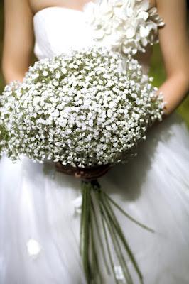 bukiety ślubne - gipsówka