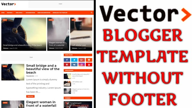 Vector Blogger Template without Footer Credit Free Download