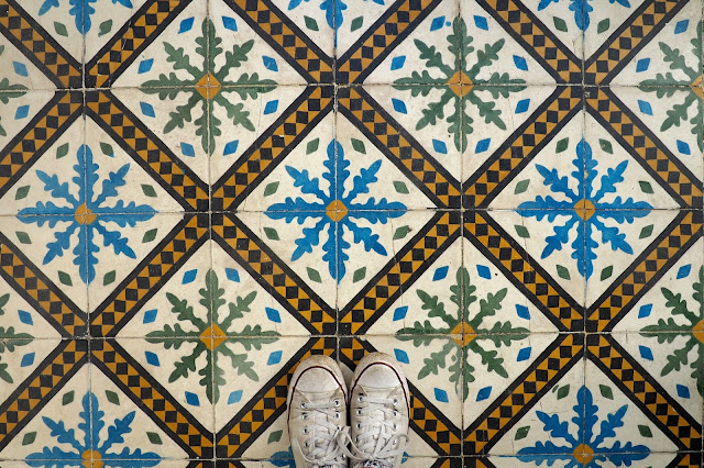 tiled floor in Marrakech Photo Diary
