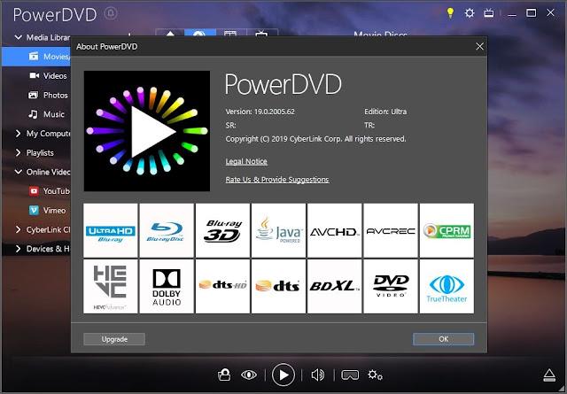 Screenshot CyberLink PowerDVD Ultra 19.0.2005.62 Full Version