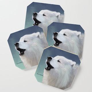 tybor-howling-samoyed-coasters