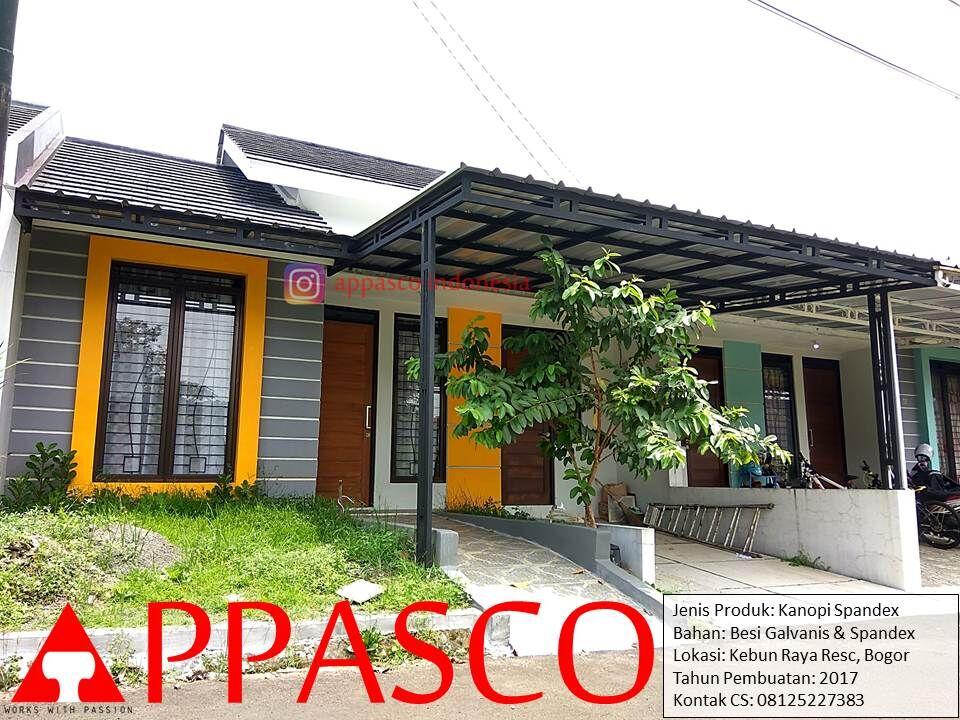 Kanopi Minimalis Atap Spandex di Kebun Raya Residence Bogor