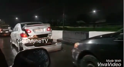 Accident On 3rd Mainland Bridge As Driver Sleeps Off (VIDEO)