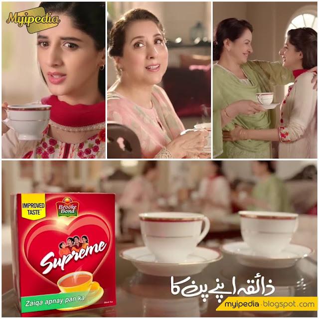 Mawra Hocane, Samina Perzada & Saba Faisal for Supreme TVC 2016