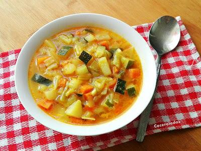 sopa casera de verduras