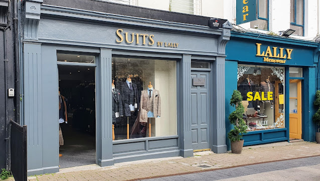 Suits by Lally mens formal wear hire shop - down the street from where Martin Feeney suit hire was before moving to Terryland