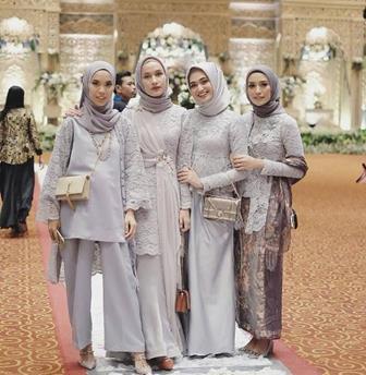 Aneka Model Kebaya Brokat Untuk Muslimah Modern