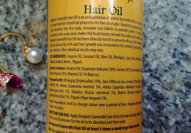 banjaras samvridhi hair oil