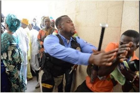 Journalist Beaten Up by Security Men at Olubadan's Coronation (Photos)