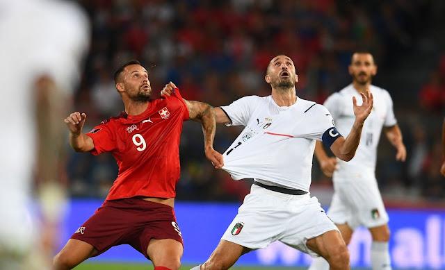ملخص مباراة ايطاليا وسويسرا في تصفيات كأس العالم