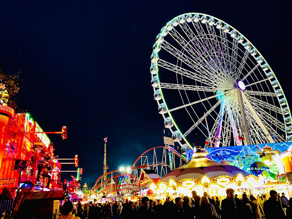 Visiting Hyde Park's Winter Wonderland with Young Children