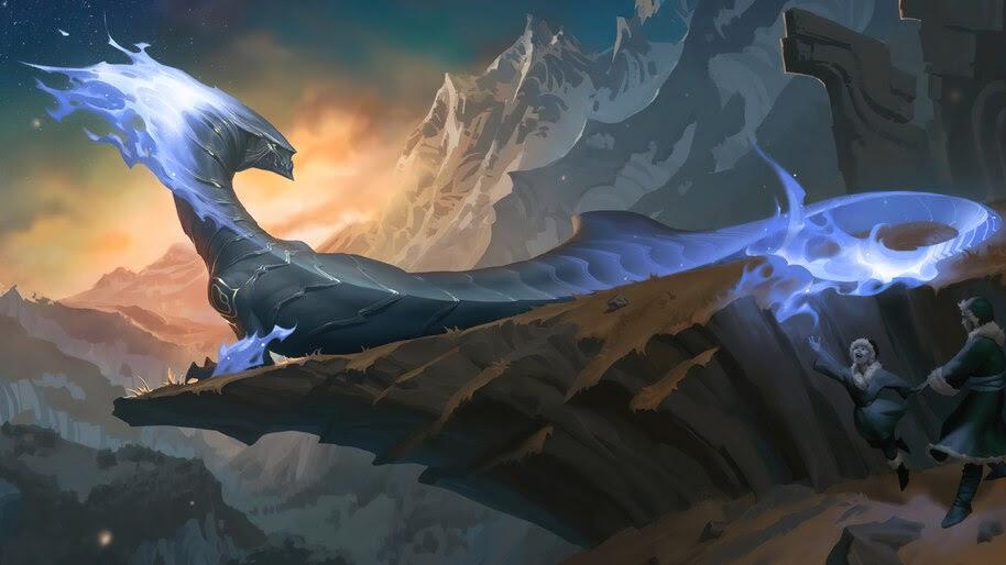 Whiteflame Protector, Targon, Dragon, Legends of Runeterra, 4K, #5.2761