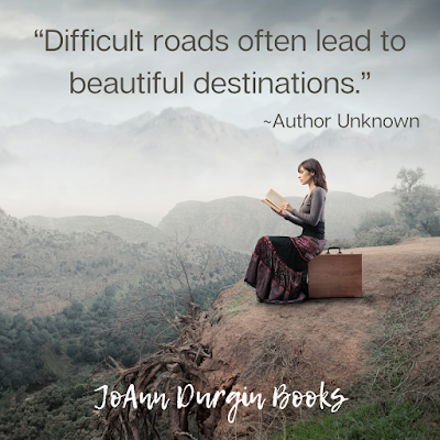 Meme says: Difficult roads often lead to beautiful destinations.