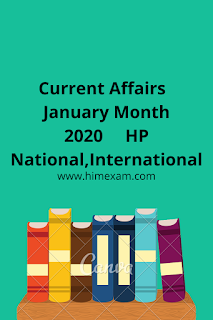 Most Important January Month Current Affairs 2020 (HP,National,International)