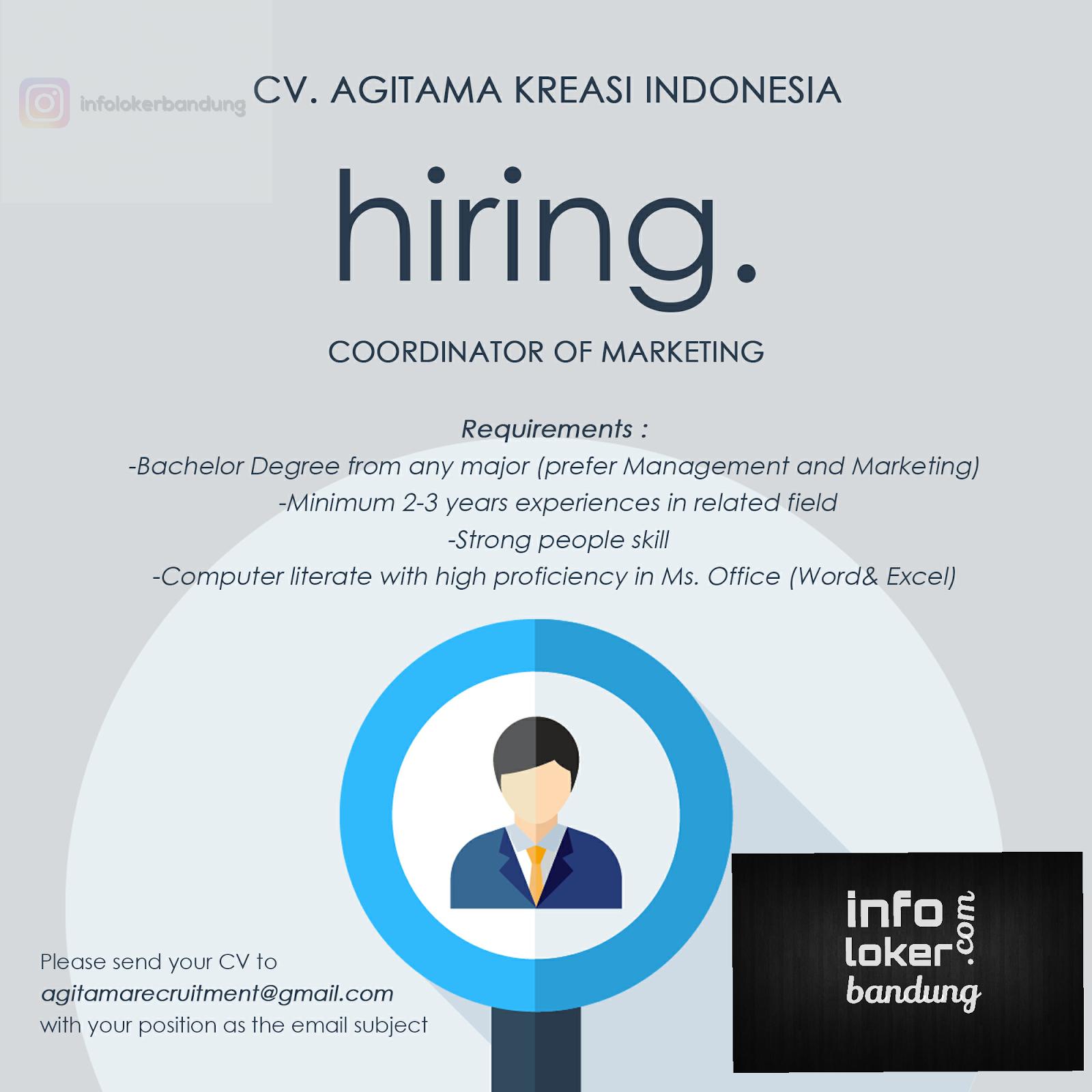 Lowongan Kerja CV. Agitama Kreasi Indonesia Maret 2017