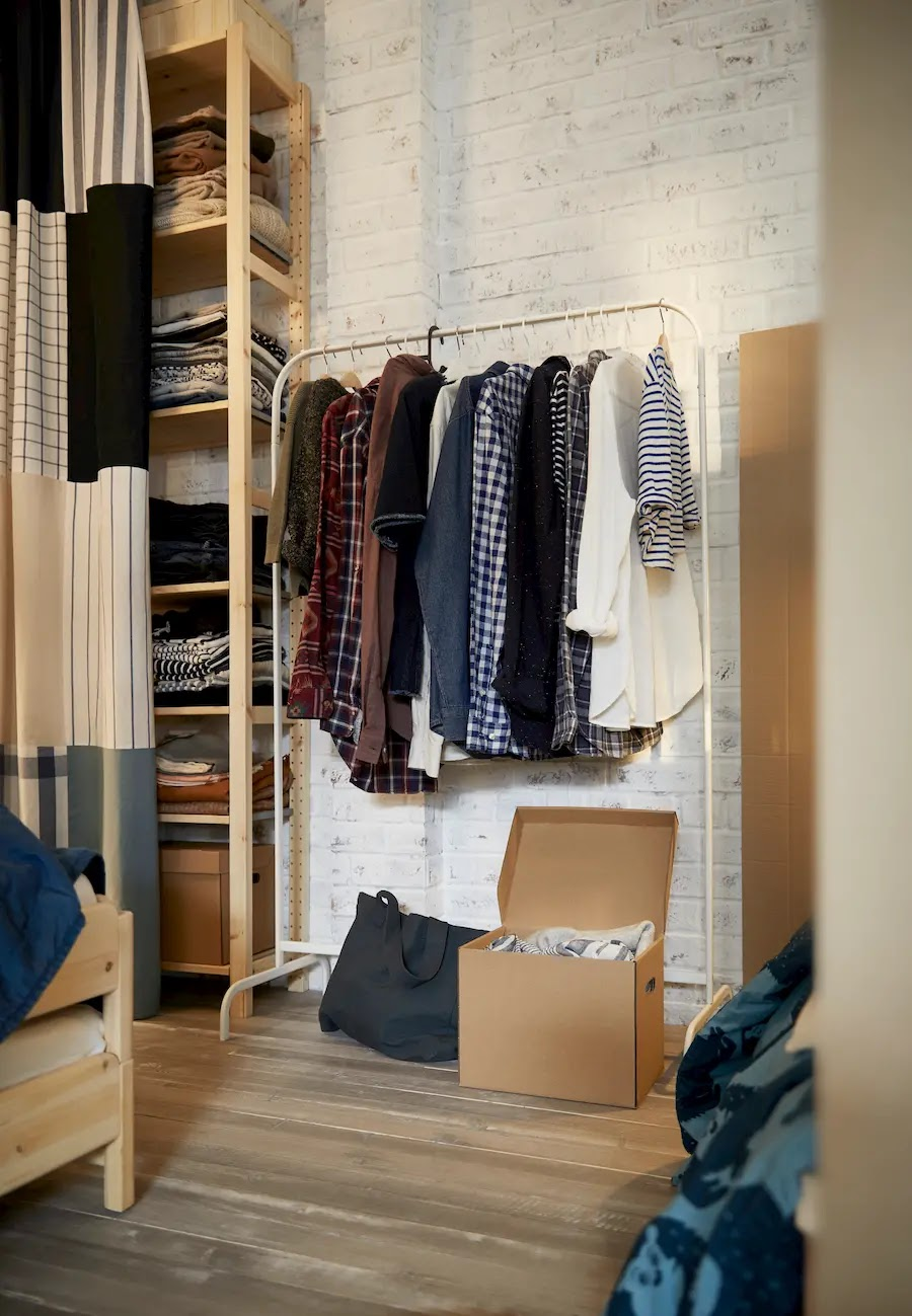 Orden en casa también en los armarios abiertos