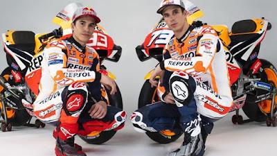 Duo pembalap Repsol Honda, Marc Marquez dan Alex Marquez,Bakal Gunakan Helm Spesial di MotoGP
