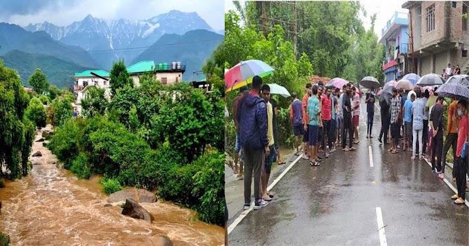 काँगड़ा में बारिश का रौद्ररूप: पानी में बह गई 11 वर्षीय बच्ची- खोज शुरू