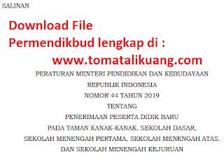 permendikbud no 44 tahun 2019; www.tomatalikuang.com