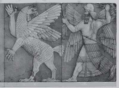Anunnaki Chaos Monster and Sun God