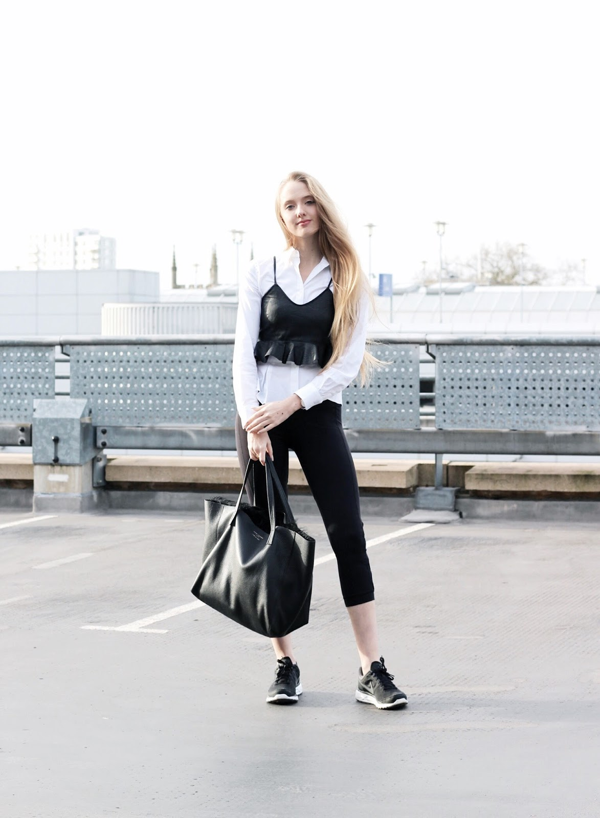 Monochrome and Minimal Athleisure Styling
