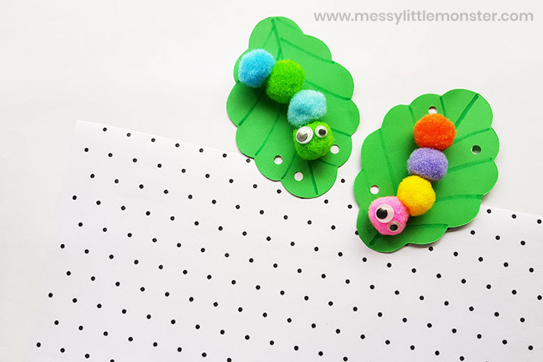 Easy caterpillar craft for toddlers and preschoolers