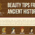 Beauty Tips From Ancient History #infographic