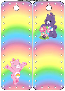 Care Bears Party Free Printable Bookmarks.