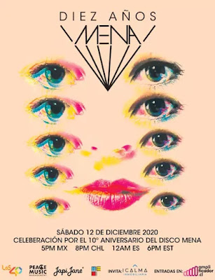 """Mañana Javiera Mena celebra de los 10 años del disco """"Mena"""""""