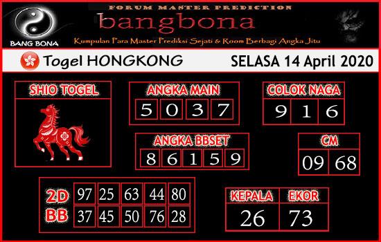Prediksi HK malam Ini Selasa 14 April 2020 - Prediksi HK Bang Bona