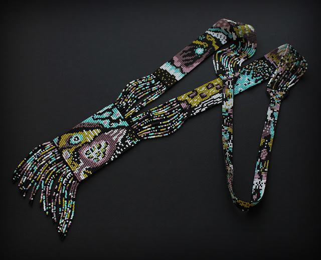 купить яркий современный гердан из бисера в интернет магазине бижутерии