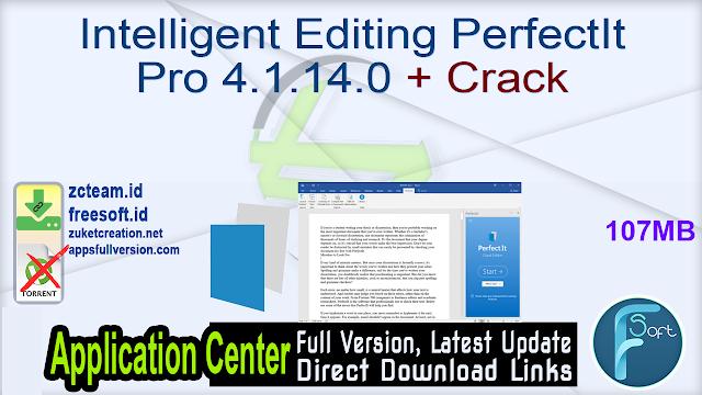 Intelligent Editing PerfectIt Pro 4.1.14.0 + Crack_ ZcTeam.id