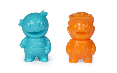 Five Points Festival 2019 Exclusive Rose Vampire & Mummy Boy Orange & Turquoise Micro Vinyl Figures by Super7