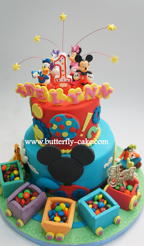 Butterfly Cake Mickey Mouse Club House Cake With Cho Cho