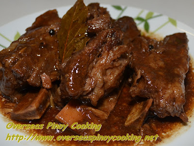 Adobong Beef Spareribs with Oyster Sauce