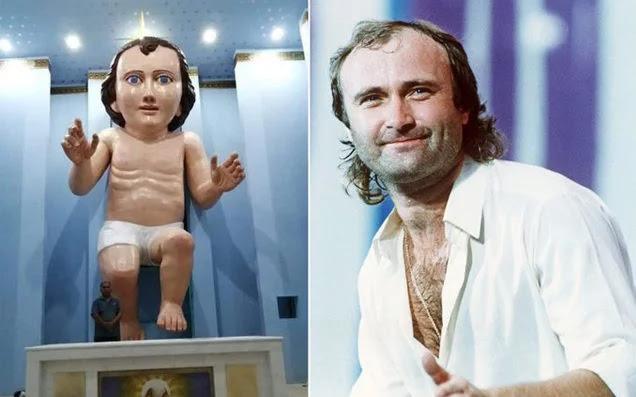 Patung Bayi Yesus Terbesar Jadi Perdebatan gegara Mirip Penyanyi Phil Collins