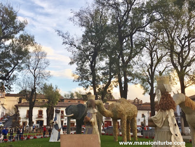 Los Tres Reyes Magos en el Nacimiento Monumental de Pátzcuaro