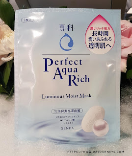 Review Senka Perfect Aqua Rich Luminous Moist Mask