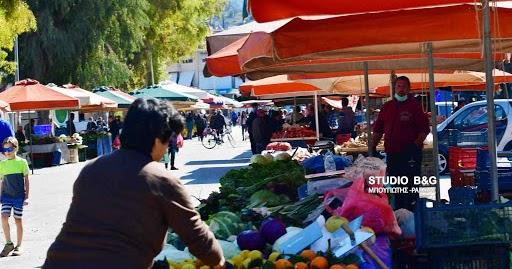 Μεγάλο ποσοστό πωλητών και καταναλωτών στη λαϊκή του Ναυπλίου δεν έκαναν χρήση της μάσκας