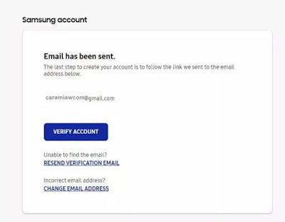 cara memverifikasi email samsung account